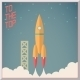 Retro Rocket Launch Background - GraphicRiver Item for Sale