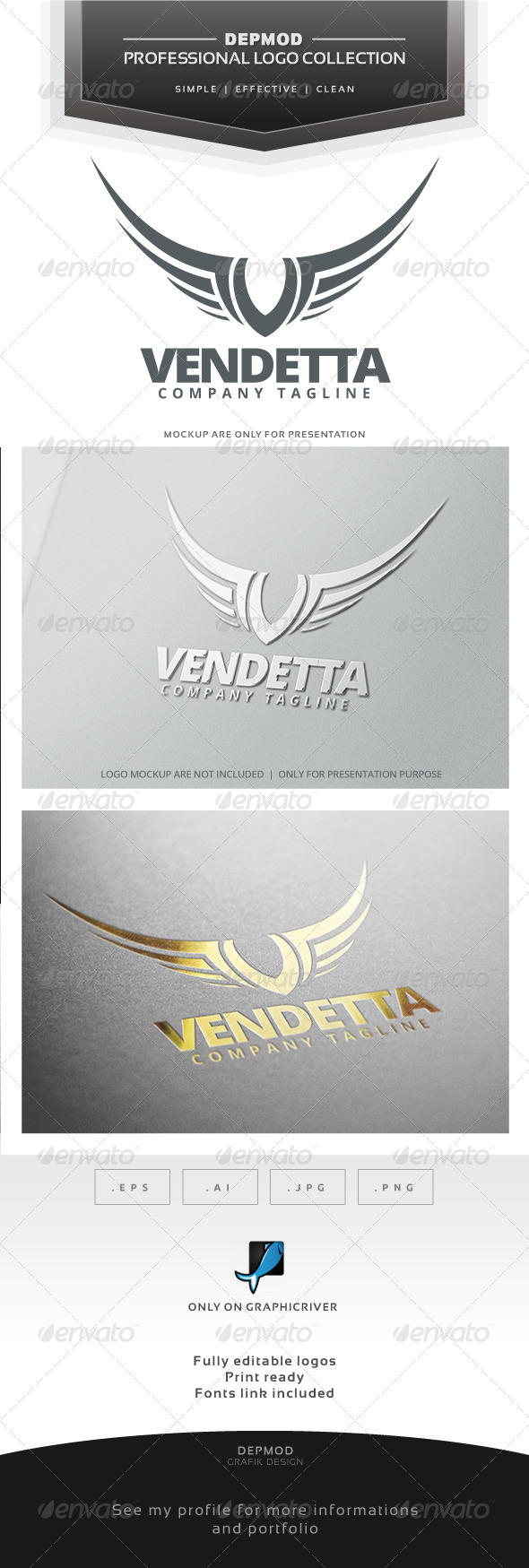 GraphicRiver Vendetta Logo 7149685