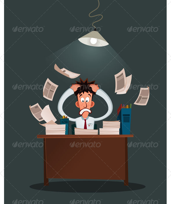 GraphicRiver Stressed Worker 7150323