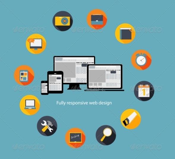 GraphicRiver Responsive Web Design Icon 7151521