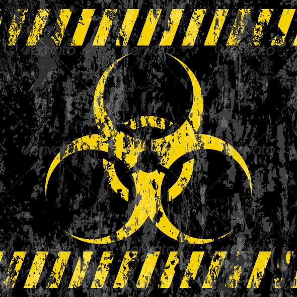 GraphicRiver Grunge Bio-hazard Sign 7151789