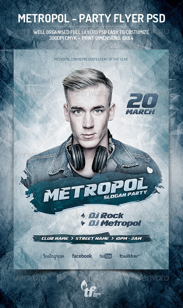 GraphicRiver Metropol Party Flyer PSD Template 7151815