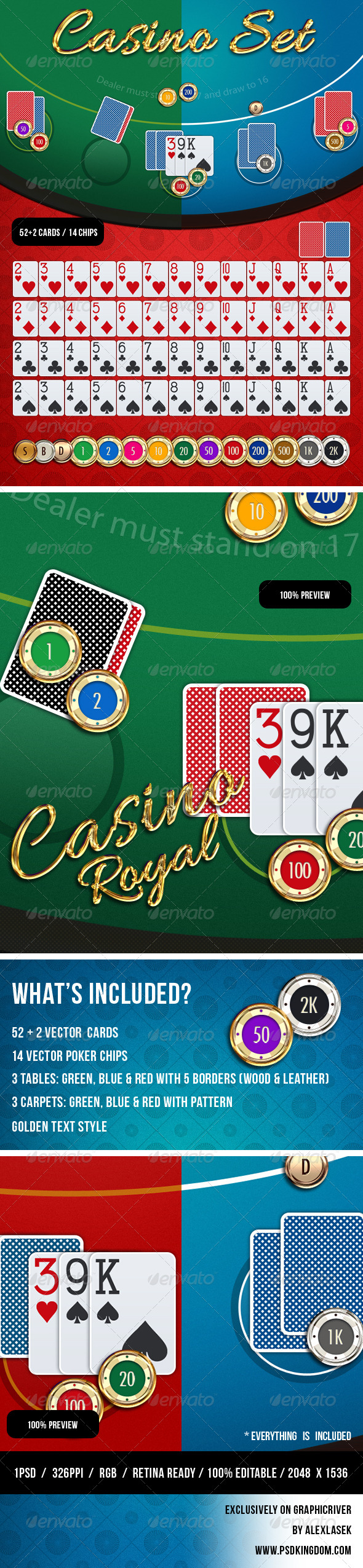 GraphicRiver Casino Card Game GUI 7152700