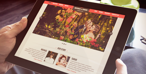 Kalyan One Page Responsive Wedding Template - Wedding Site Templates