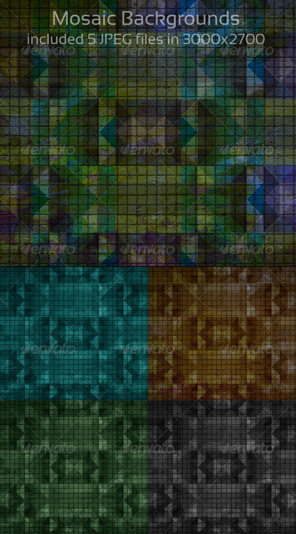 Mosaic Backgrounds - Abstract Backgrounds
