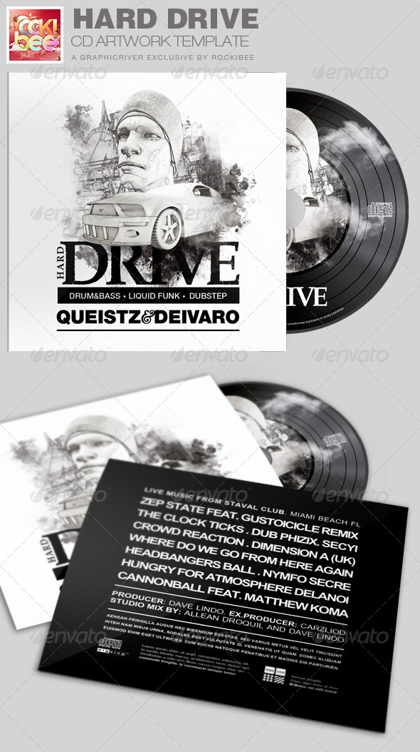 GraphicRiver Hard Drive CD Artwork Template 7154878
