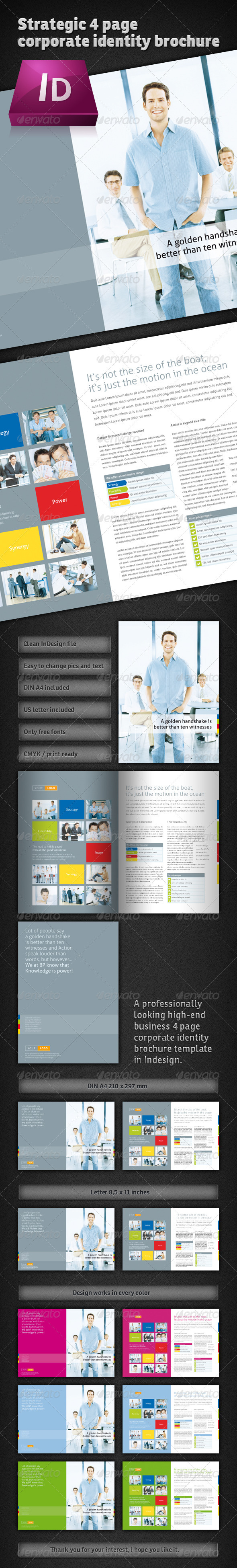 Strategic 4 Page Corporate Brochure - Corporate Brochures