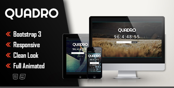 ThemeForest Quadro Coming Soon Template 7155727