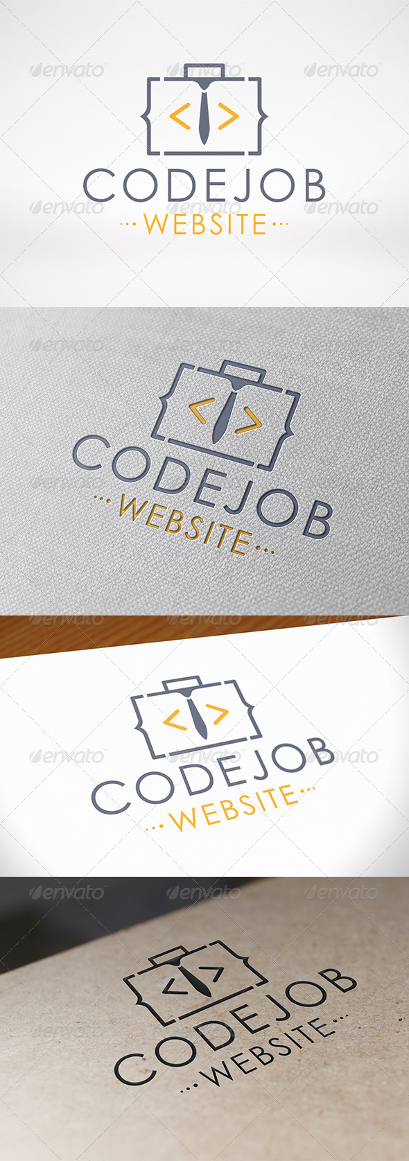GraphicRiver Code Job Logo Template 7156485