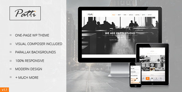 ThemeForest Patti Parallax One Page WordPress Theme 7068682
