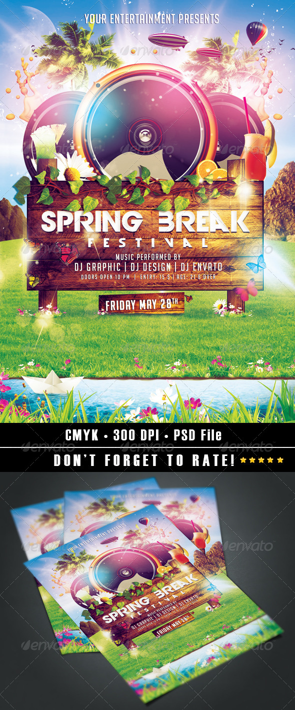 GraphicRiver Spring Break Festival 7157079