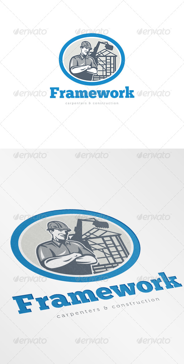 GraphicRiver Framework Carpenters and Construction Logo 7157809