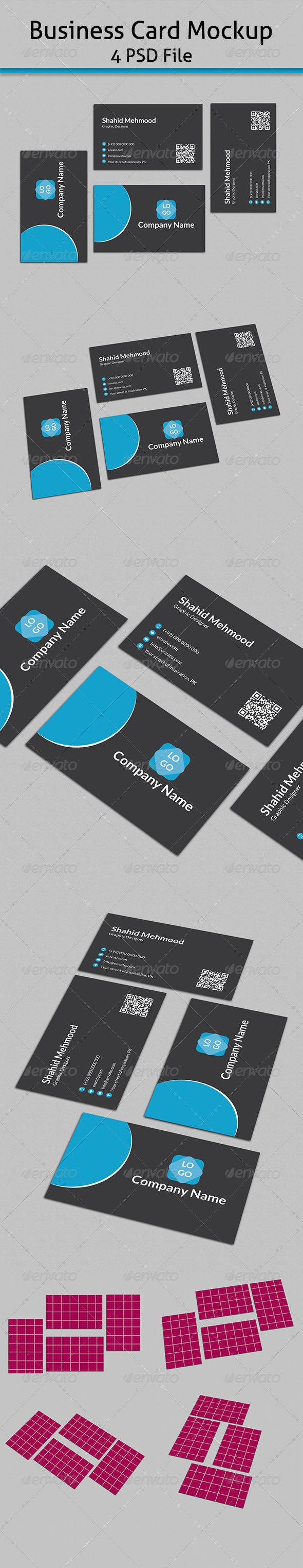 GraphicRiver Business card Mock-up 7157850