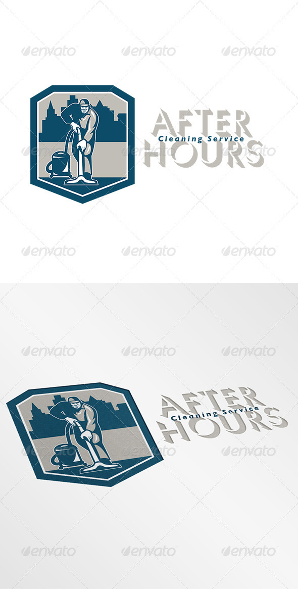 GraphicRiver After Hours Cleaning Service Logo 7157903