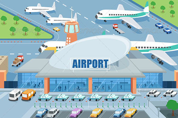 GraphicRiver Airport on the Outside 7158291