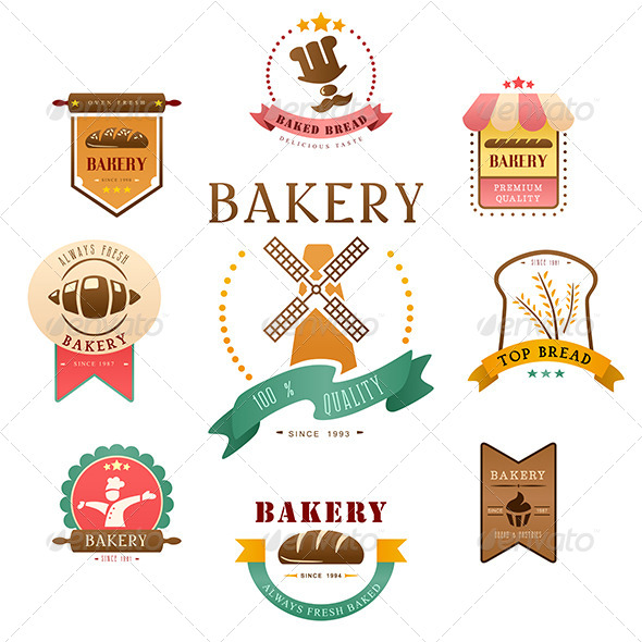GraphicRiver Bakery Label 7158359