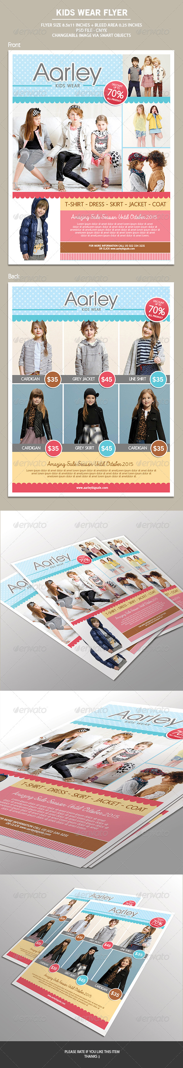 GraphicRiver Kids Wear Flyer 7158368