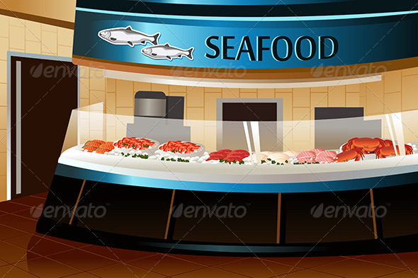 GraphicRiver Grocery Store Seafood Section 7158393