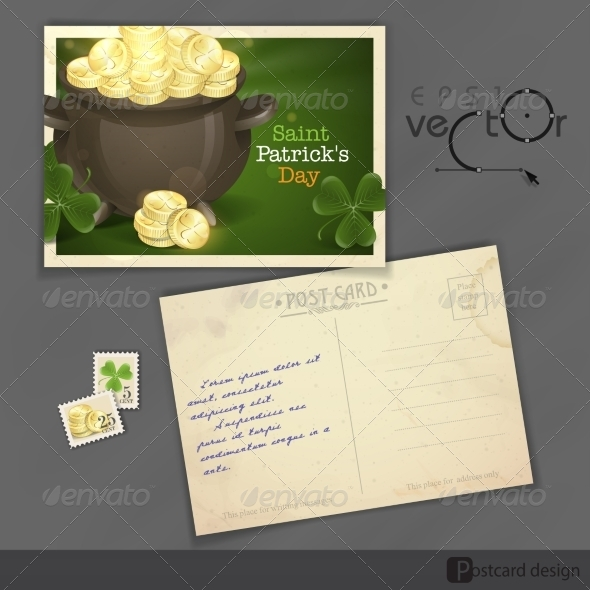 GraphicRiver St Patrick s Day Pot of Gold 7159749