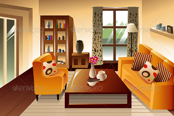 GraphicRiver Modern Living Room Space 7160107