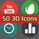 50 3D Icons - VideoHive Item for Sale