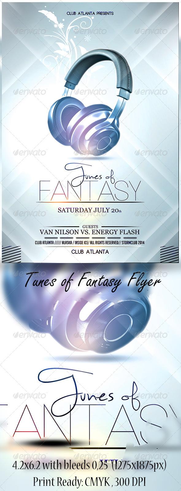 GraphicRiver Tunes of Fantasy Flyer 7161089