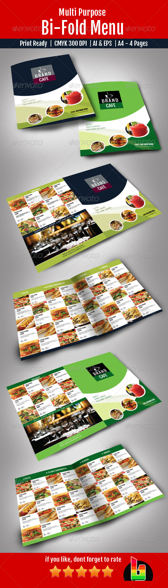 GraphicRiver Bi-Fold Menu 7161111