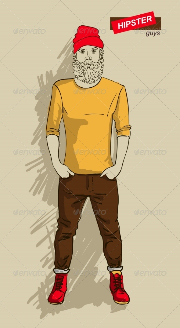 GraphicRiver Hipster Man in Fashion 7161304