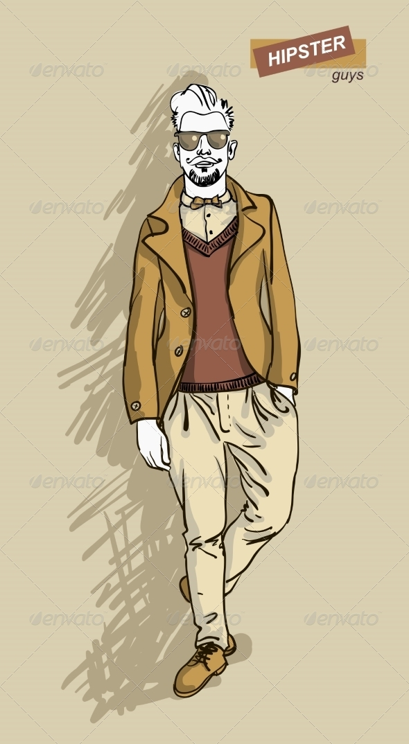 GraphicRiver Hipster Man in Fashion 7161321