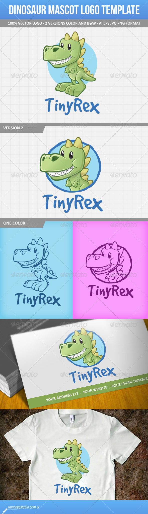 GraphicRiver Dinosaur Mascot Logo Template 7161680