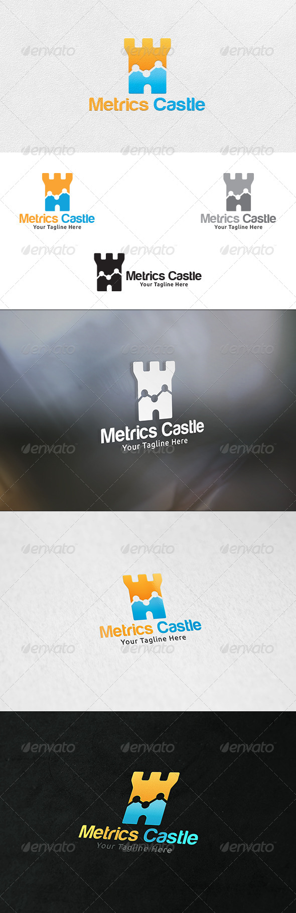 GraphicRiver Metrics Castle Logo Template 7161841