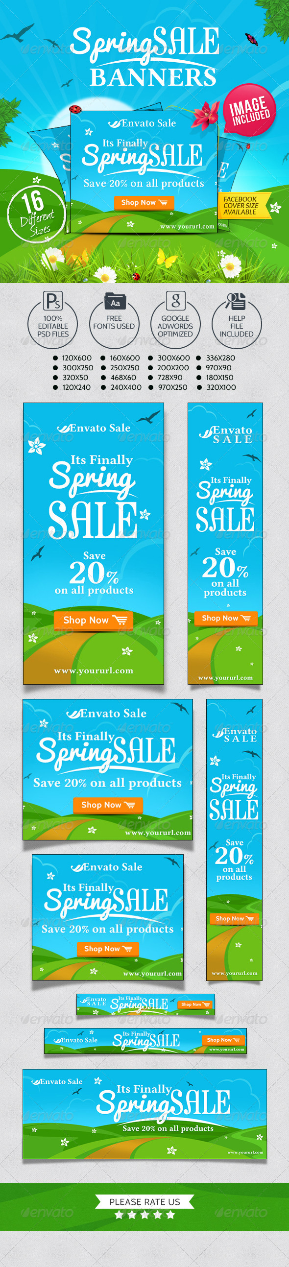GraphicRiver Spring Sale Banners 7162164