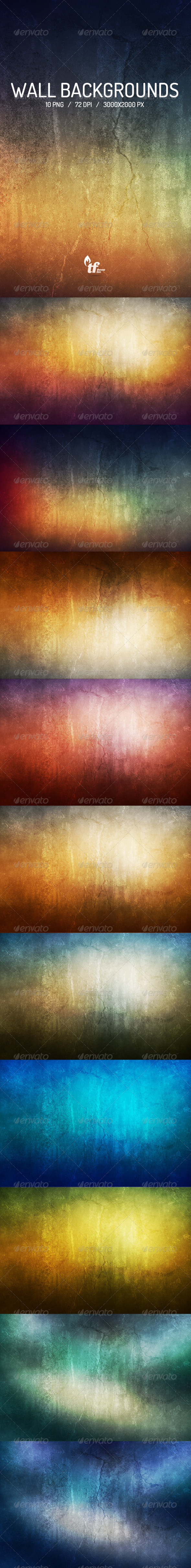 GraphicRiver Wall Backgrounds 7162203