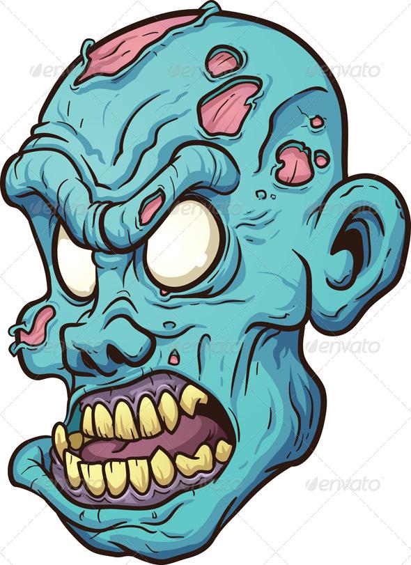 GraphicRiver Zombie Head 7162964