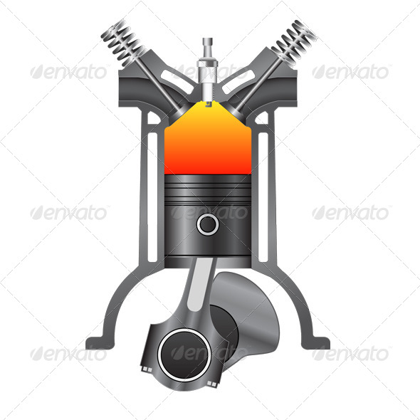 GraphicRiver Four Stroke Engine-Compression 7155666