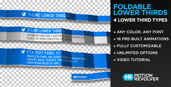 After Effects Project - VideoHive Foldable Lower Thirds 751910