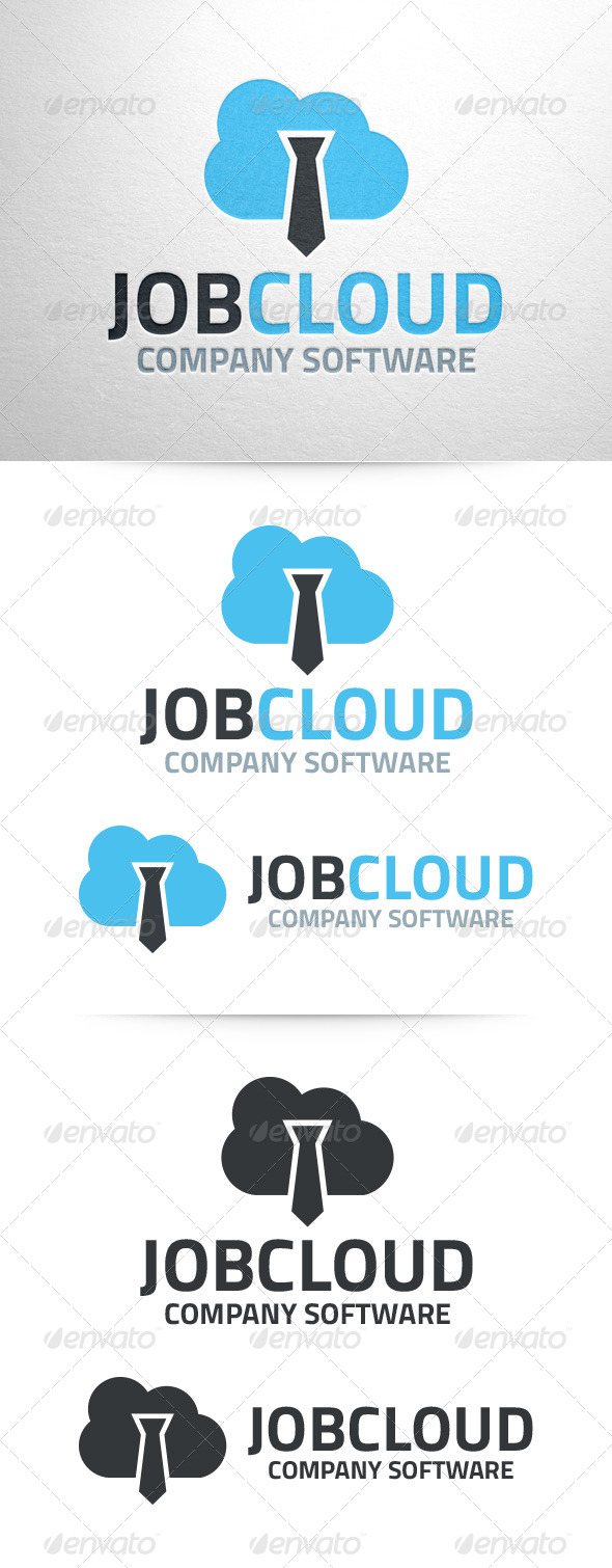 GraphicRiver Job Cloud Logo Template 7163496