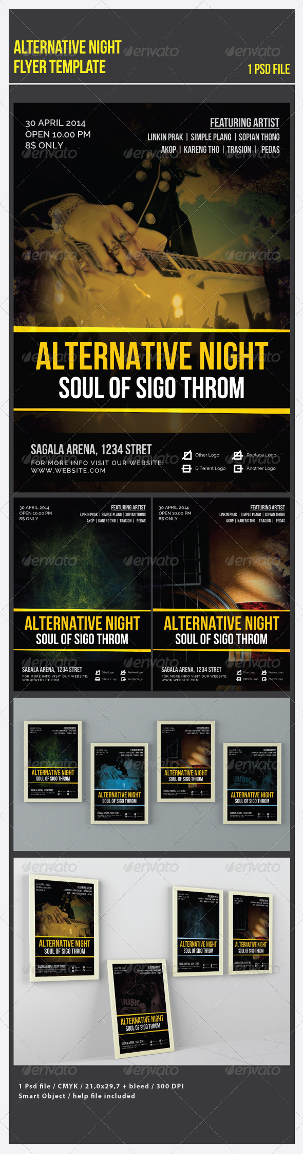 GraphicRiver Alternative Night Flyer Template 7101117