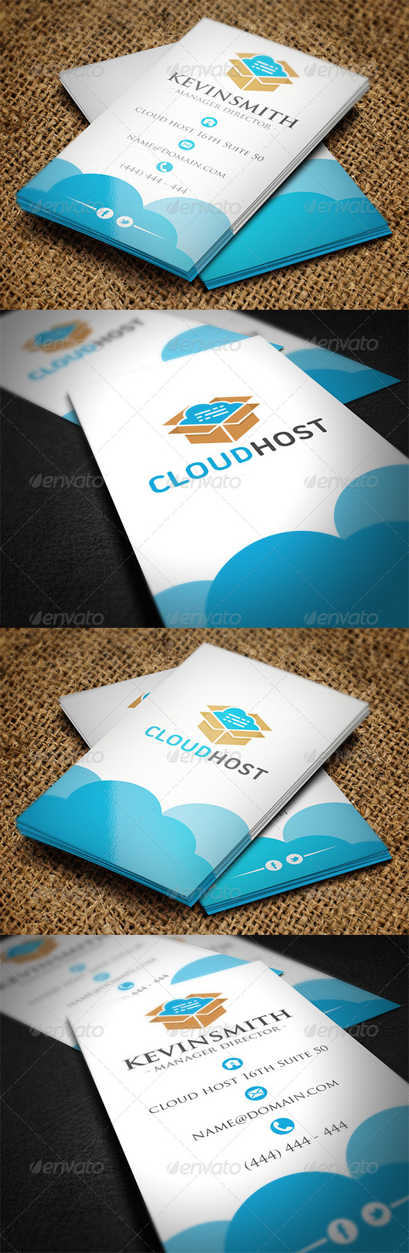 GraphicRiver Cloud Business Card 7164263