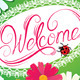 Calligraphic Handwritten Sign Saying Welcome - GraphicRiver Item for Sale