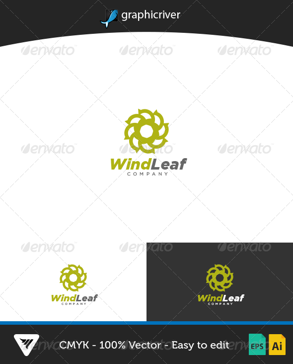 GraphicRiver WindLeaf Logo 7165479