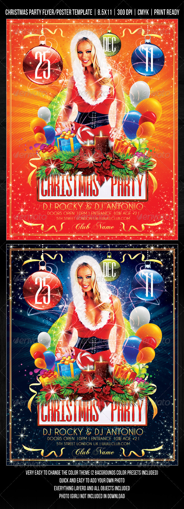 GraphicRiver Christmas Party Concert Flyer Poster Design 752245