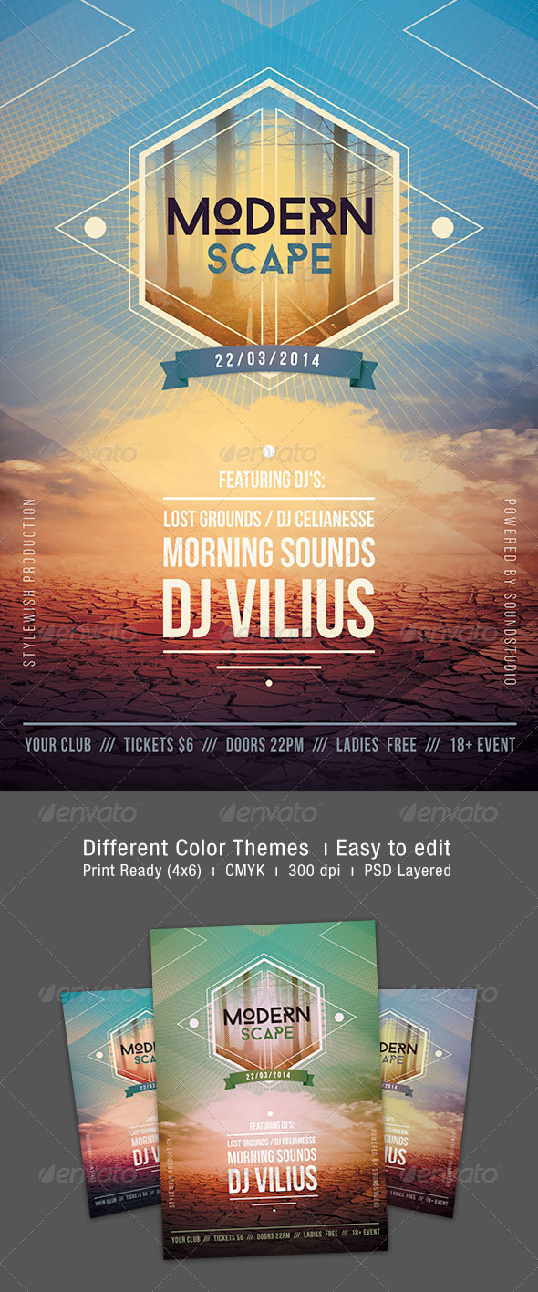 GraphicRiver Modern Scape Flyer 7160626