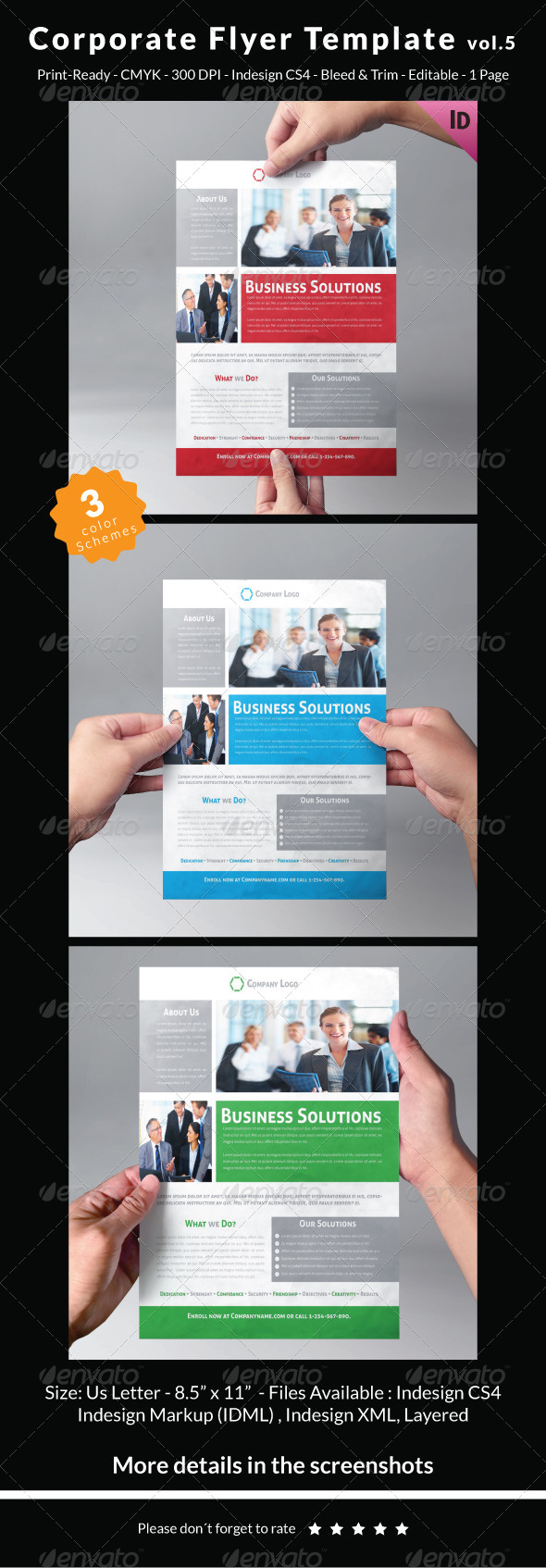 GraphicRiver Corporate Flyer Template Vol.5 7167112