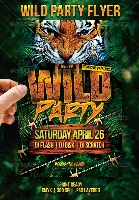 GraphicRiver Wild Party Flyer 7167551