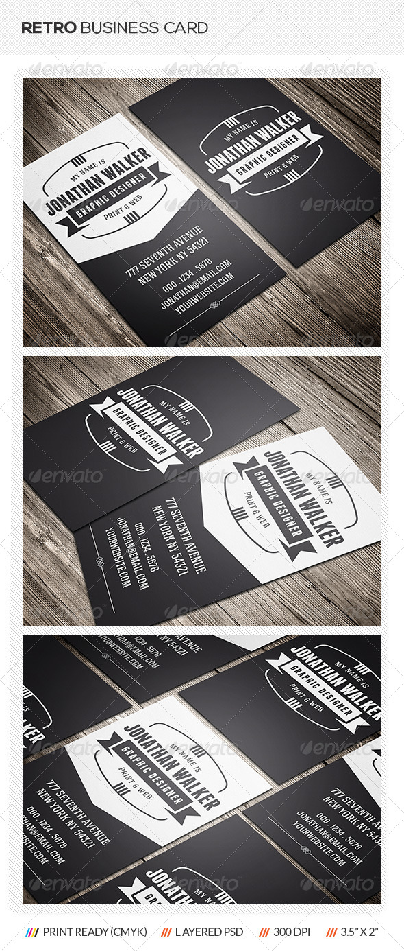 GraphicRiver Retro Business Card 7169068