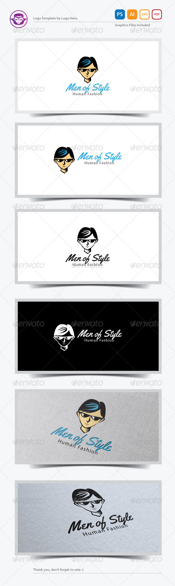 GraphicRiver Men of Style Logo Template 7170593