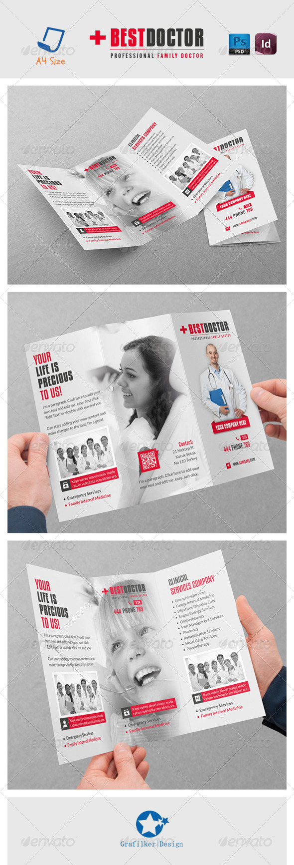 GraphicRiver Best Doctor Tri-Fold Templates 7111640