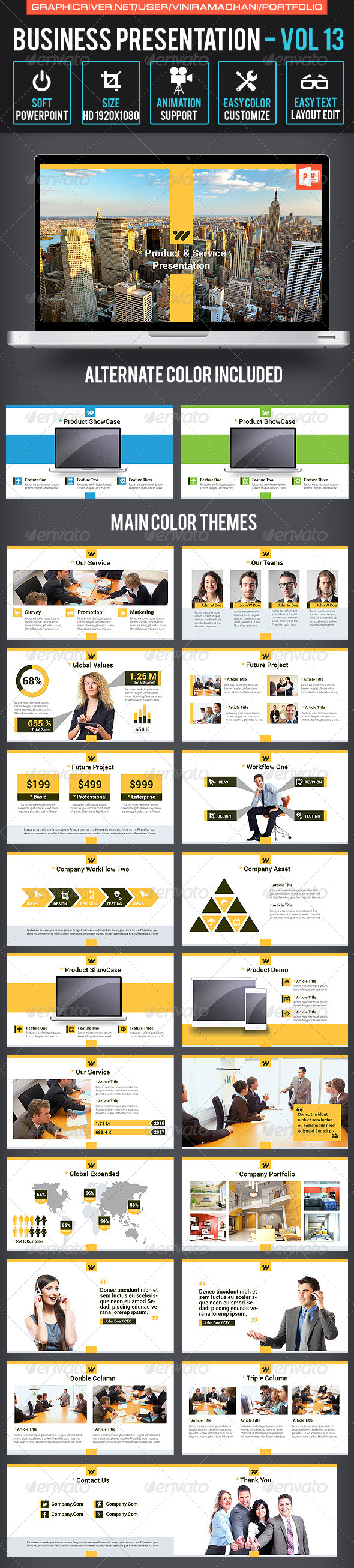 GraphicRiver Business Presentation Volume 13 7171196