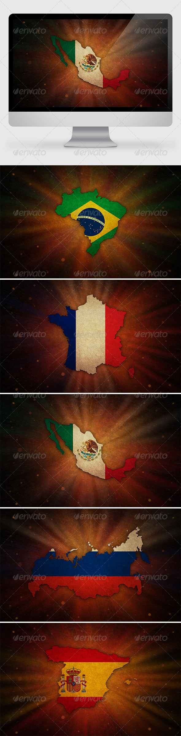 GraphicRiver 5 Countries Backgrounds 2 7173373